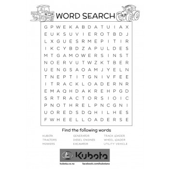 Kubota - Word Search
